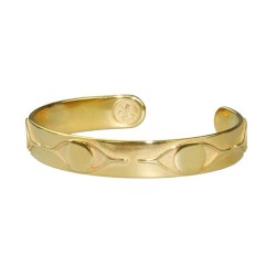 Bronze24 Karat vergoldet. Matt und glänzend im Patina-Look poliert.