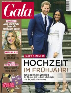 Vorderseite der Zeitschrift Gala. Heft 49. Jahr 2017.